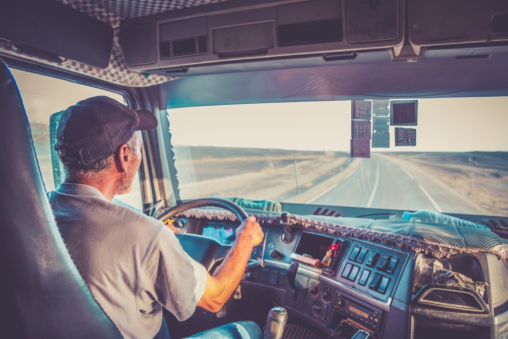 A truck driver at work