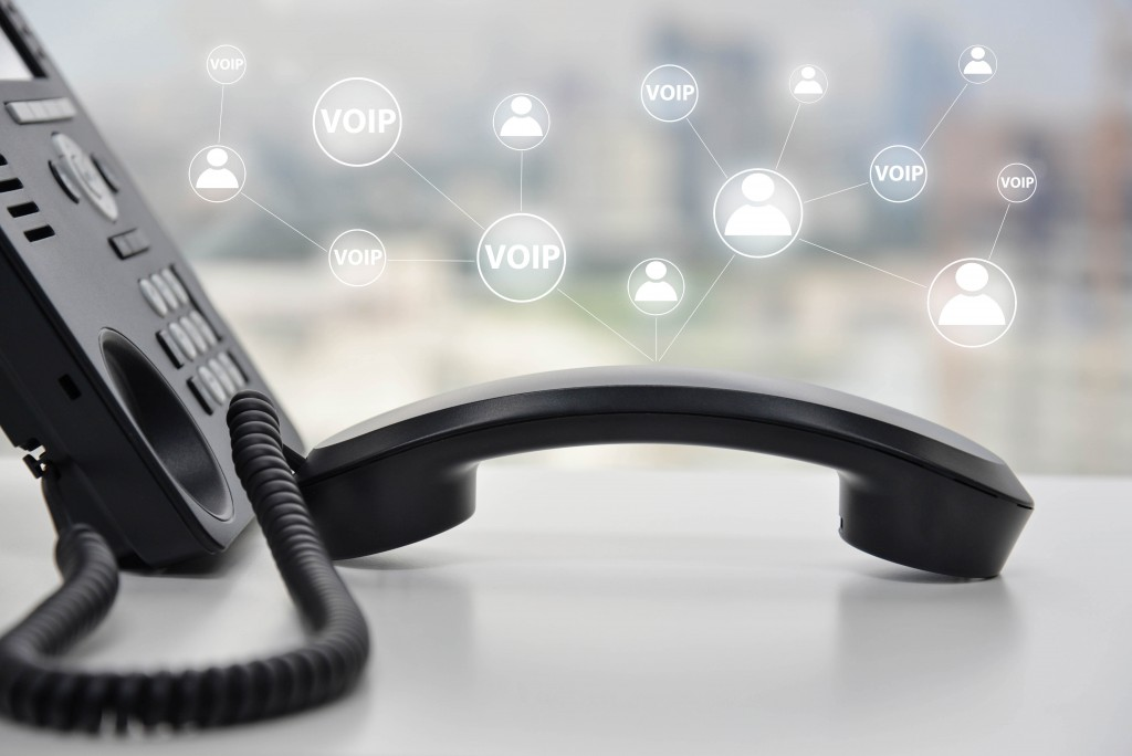 VOIP icons and telephone