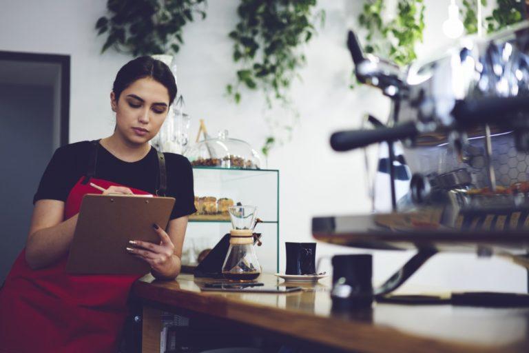 coffee shop and employee