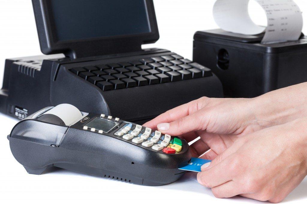 card reader and cash register