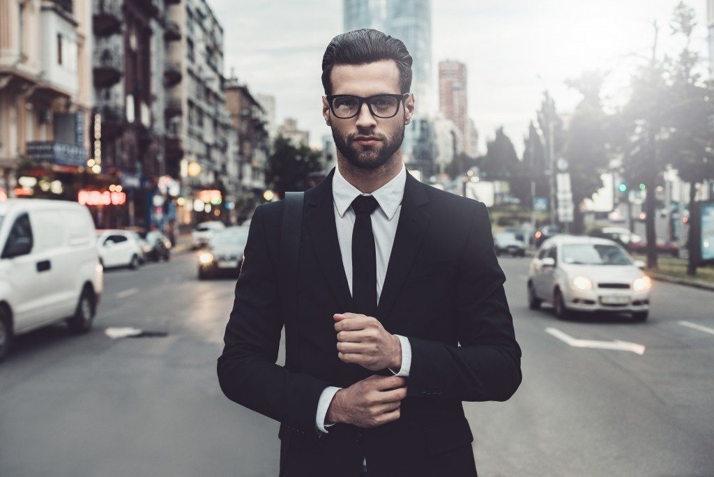 man wearing formal attire