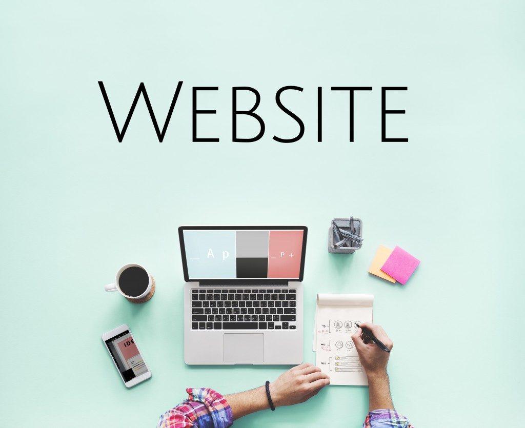 designer creating design for a website