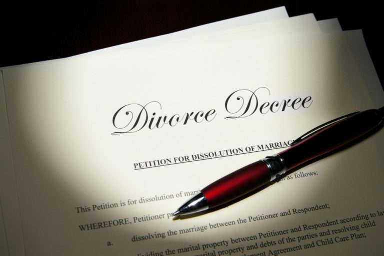 Divorce decree petition contract