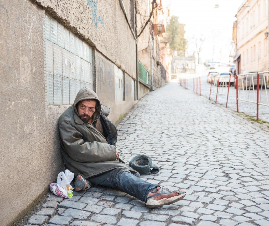 beggar on the street