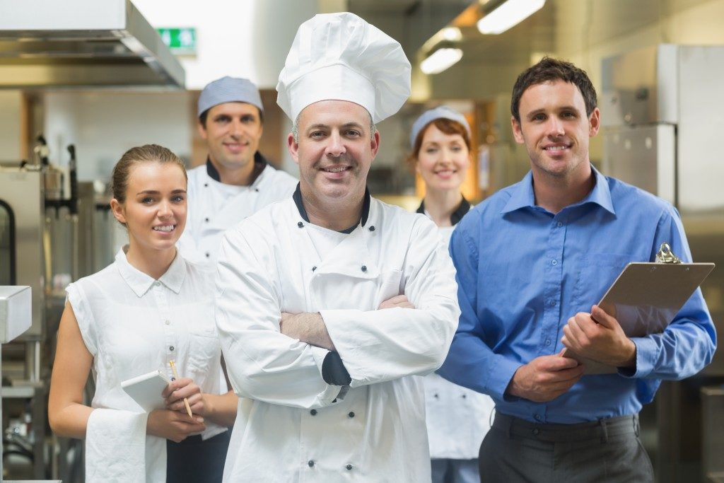 chef and his staff